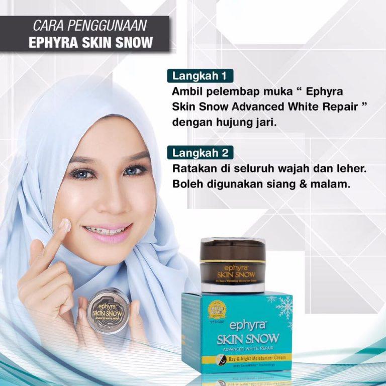 ephyra skin snow skincare series cara guna